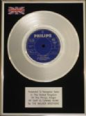 "WALKER BROS - 7"" Platinum Disc - MY SHIP IS COMING HOME"